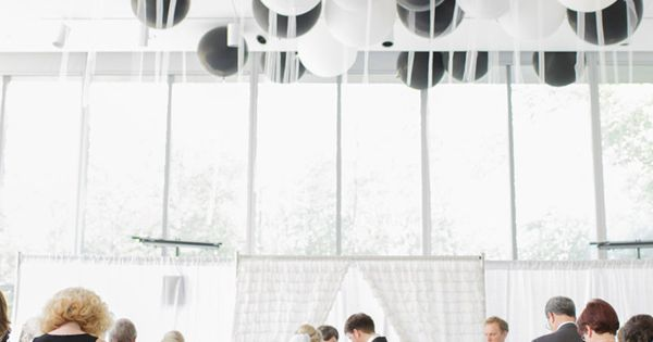 Ceremony balloons! Idea--blow up helium balloons inside lanterns, attach an LED tealight,