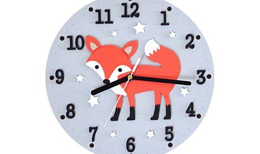 Pokoj Dziecka Rozne Zegar Dla Dziecka Z Liskiem Clock Wall Clock Home Decor