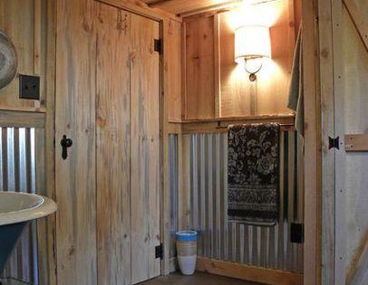 Tin Bathroom Walls Designs Corrugated Tin Shower Wall