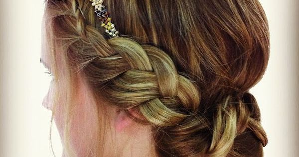 side braid braided bun with headband