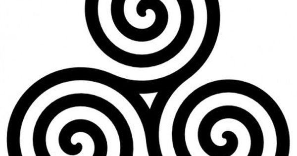 Triple Spiral: As a Celtic symbol for mother and her many aspects,