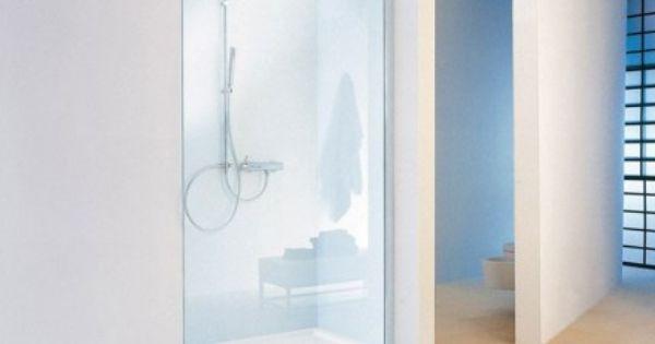 Paroi de douche fixe en verre 8 mm et trait anti calcaire for Enlever calcaire sur carrelage douche