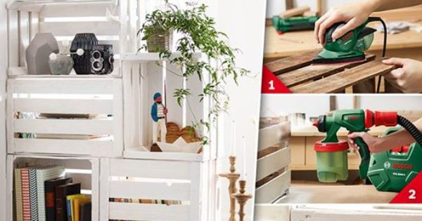 raumteilerregal aus obstkisten diy haus hof pinterest obstkisten raumteiler und weinkisten. Black Bedroom Furniture Sets. Home Design Ideas
