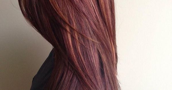Dark Brown Hair With Red Highlights Google Search My Style Pinterest Red Highlights