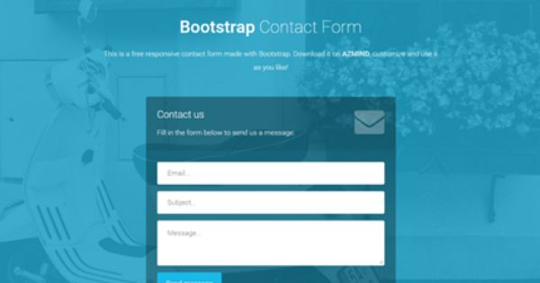 Bootstrap Contact Forms 2 Free Responsive Templates Contact Form Form Templates