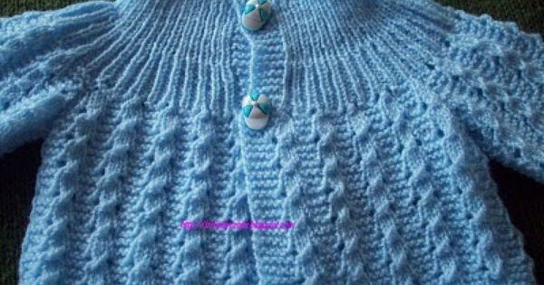 Download Knitting Stitches Visual Encyclopedia : Trico da Vanda: casaquinho de bebe receita mais abaixo nos comentarios tric...