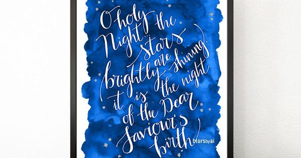 O holy night lyrics printable christmas decor in white for O holy night decorations