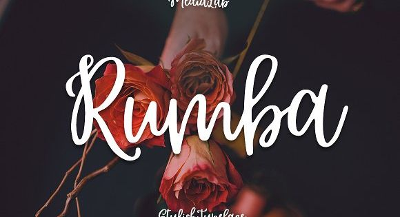 Rumba Script – attentively written, with gentle curves to produce a font thats completely distinctive and original