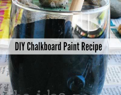 Learn how to make your own Chalkboard Paint in ANY color or