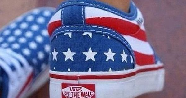 weekly fashion inspiration | American flag vans, Vans, Shoes