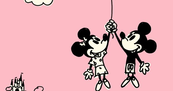 Happy Valentines Day! Mickey & Minnie Mouse.