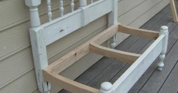 Maak van een hoofd en voeteneind een prachtig bankje voor op je terras kids pinterest - Hoofd fluwelen bed ...