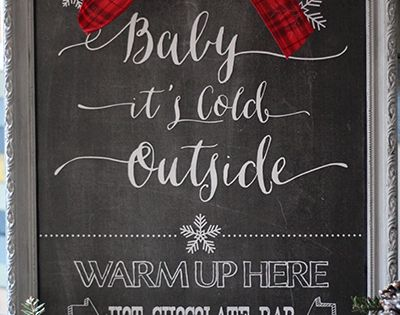 FREE Hot Chocolate Bar Chalkboard Printable -