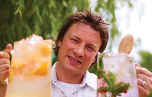 Quick and easy flavored water ideas from Jamie Oliver... This would help