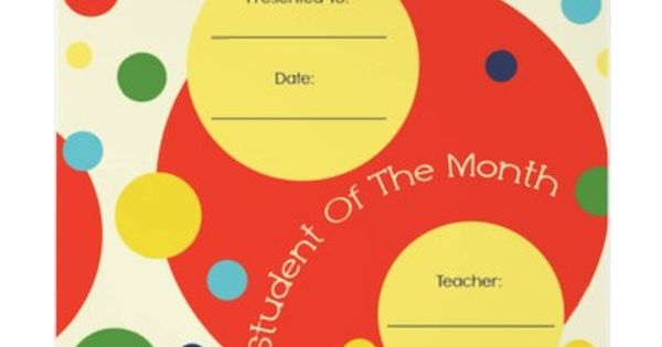 teacher of the month certificate template - student of the month award certificate letterhead template