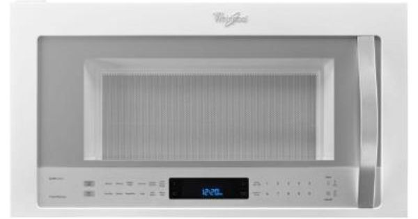 Whirlpool 30 In W 1 9 Cu Ft Over The Range Convection Microwave In White Ice Wmh76719ch The Home Depot Range Microwave Convection Microwaves Microwave