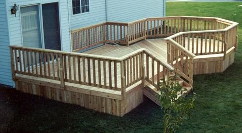12 X 16 Deck With 10 Octagon Patio Deck Designs Deck Design Deck Designs Backyard