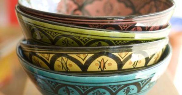 Moroccan Ceramic Bowl Handmade Ships From By Keshmaradesigns 25 00 Tazon De Ceramica Cuencos Decoracion De Unas