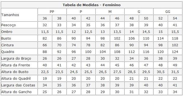 Escala de medidas de roupa moldes pinterest tabela for Escala de medidas