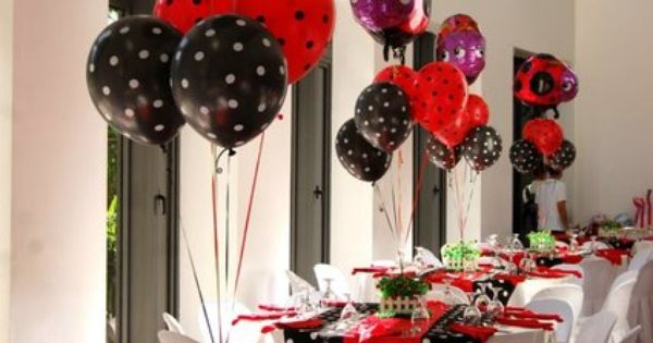 ladybug birthday party. Emmie's first birthday idea.