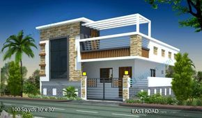 100 Sq Yard 30 X 30 Sq Ft East Face House Elevation For More House Plans Elevations F House Design Pictures House Design Photos Architectural House Plans