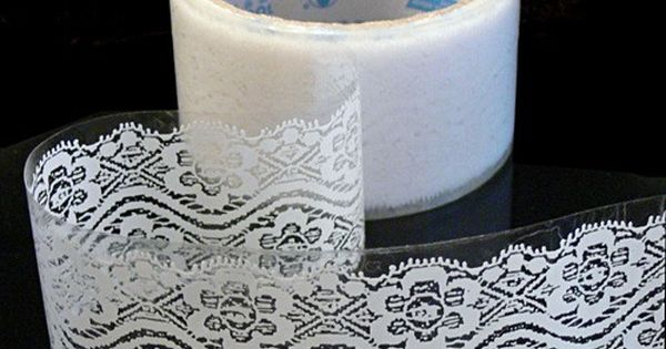 lace tape take lace and put it on transparent tape. great gift