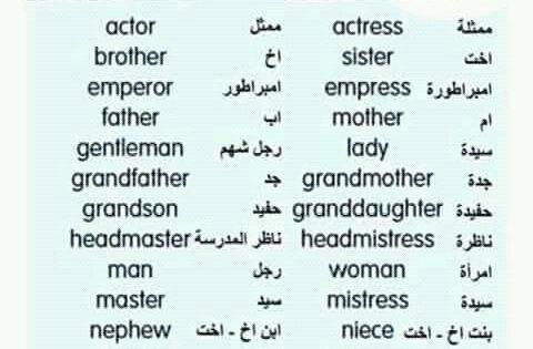 المؤنث والمذكر Learn English Words Learn English Learning Arabic