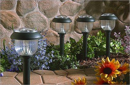 luces solares jardin