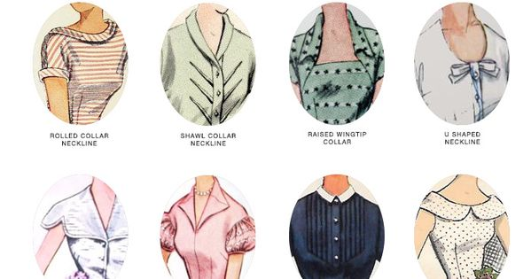 Guide to Vintage Collars and Necklines*You can find the ...