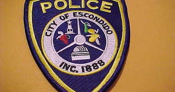 Escondido California Police Patch Shoulder Size New Police Police Patches Patches