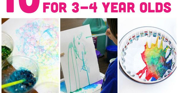 10 Awesome Art Projects For 3-4 Year Olds