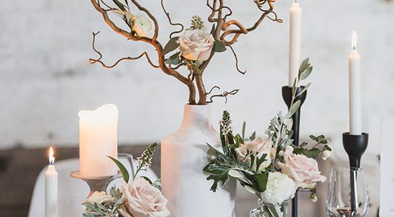 Contemporary Scandinavian winter wedding inspiration ...