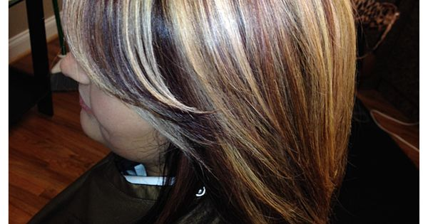 Blonde And Red Violet My Work Hair Pinterest