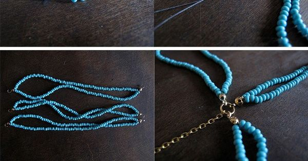 Diy Projects: Braided bead Necklace DIY. I could try this!