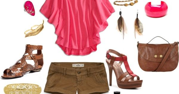 Pink Flutter Top with cute BCBG heels :).....minus those daisy and the
