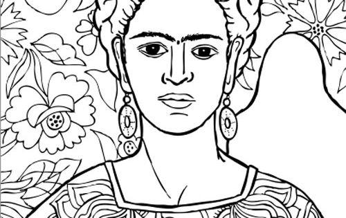 Dibujo Para Colorear De Frida Kahlo: Frida Kahlo Pinturas Para Colorear