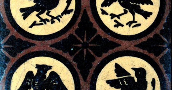 Mid 19th Century Gothic Revival Encaustic Floor Tile By