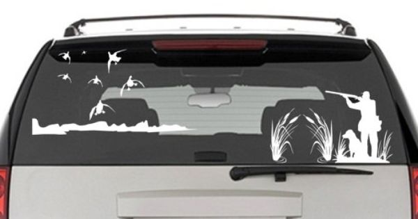 Free Shipping 18 COLORS Tailgate Decal Deer Hunting,bow hunting