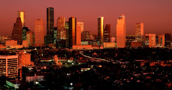 Houston Texas Skyline In 1986 Vintage Houston Texas Pinterest