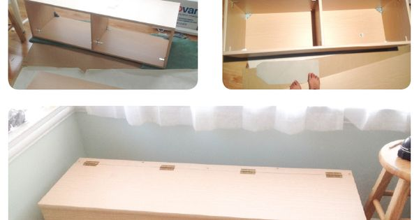 DIY storage Bench - great for small kids rooms! Toy chest for