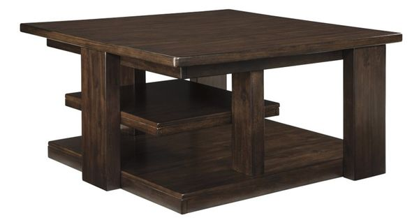 Ashley Garletti Square Coffee Table In Dark Brown T787 8 Hold My Coffee Cup Pinterest