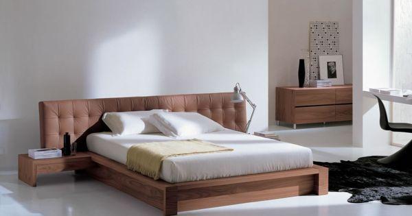 lampen schlafzimmer modern design weiß braunes bettkopf ... - Lampe Schlafzimmer Modern