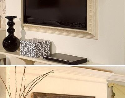 We are all for this easy upgrade: Frame your TV to add depth and dimension to your walls (via KathyWoodard@TBD•TGG•DYSS)! Ready to get started? We've got dozens of big & bold moulding choices: www.pictureframes...