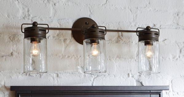 Shop Allen Roth 3 Light Vallymede Aged Bronze Bathroom Vanity Light Vanity Area Over The