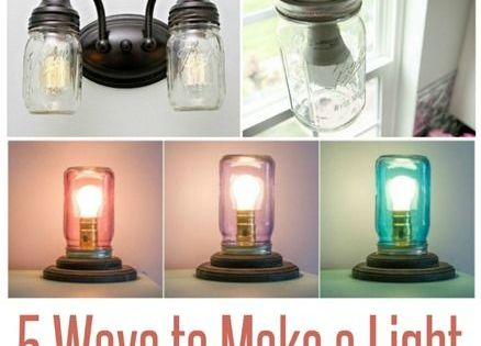 Ways to Make a Light from a Mason Jar  Vasi, Decorazioni per la ...
