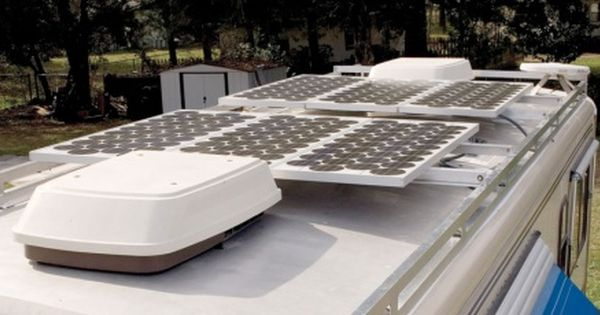 Example Of Solar Panel Mounting On Bus Roof Solar Panels Rv Solar Panels Outdoor Furniture Sets