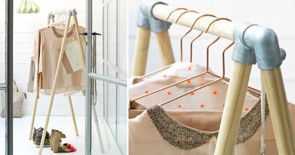 fabriquer une penderie design en bois et alu diy. Black Bedroom Furniture Sets. Home Design Ideas