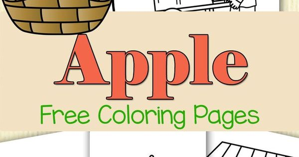 Apple Themed Coloring Pages : Colorful free apple coloring pages learning walk