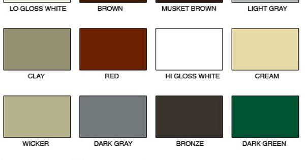 Classic Gutter Colors Color Selector Pinterest