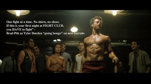 Pin By Ferrisblueller On Quotes Fight Club Rules Fight Club Fight Club Quotes